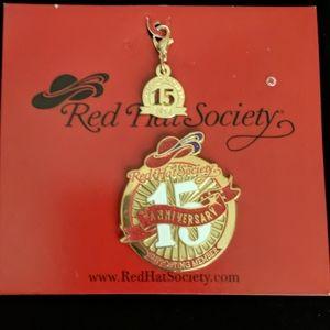 RED HAT SOCIETY 2013 15TH ANNIVERSARY PIN